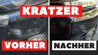 AUTO KRATZER ENTFERNEN - So einfach geht das !!!