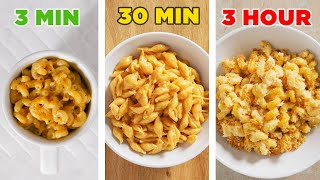 3-Minute Vs. 30-Minute Vs. 3-Hour Mac N' Cheese • Tasty