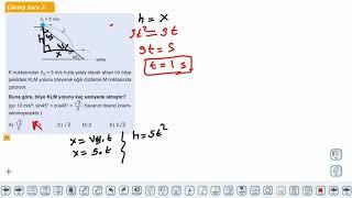 Eğitim Vadisi 11.Sınıf Fizik 8.Föy İki Boyutta Sabit İvmeli Hareket 2 Konu Anlatım Videoları