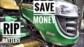 How To Fix Lawn Tractor Dead Battery And Save Money