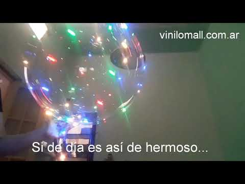 Globo luminoso Cristal con Leds Color Gigante
