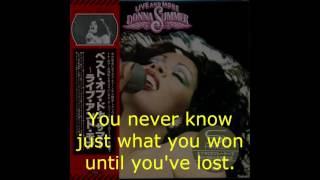 "Donna Summer - Rumour Has It (Live) LYRICS - SHM ""Live and More"" 1978"