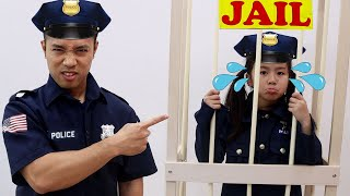 Jannie and Emma Learn Good Habit by Pretend Play Police | Police Kids Helps People