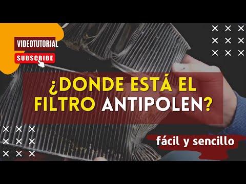 Cómo cambiar el filtro antipolen o filtro del habitáculo de una furgoneta