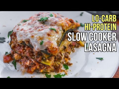 Video Slow Cooker Low Carb Lasagna / Lasaña de Cocina Lenta Baja En Carbos