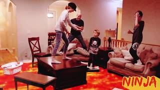 The Floor Is Lava LAVA MONSTER! Ninja Style!  That YouTub3 Family   The Adventurers