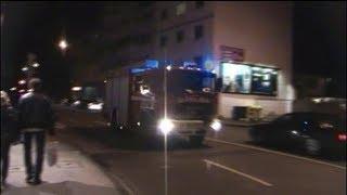 preview picture of video 'Mülltonnen-Express BF Koblenz (HLF 2) mit Pressluft Abends unterwegs'