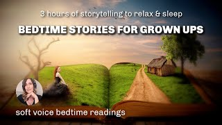 3 HRS of Storytelling to Help You Get Sleepy / Relaxing Bedtime Stories for Grown Ups (female voice)