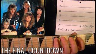 THE FINAL COUNTDOWN - Europe - Guitar Lesson