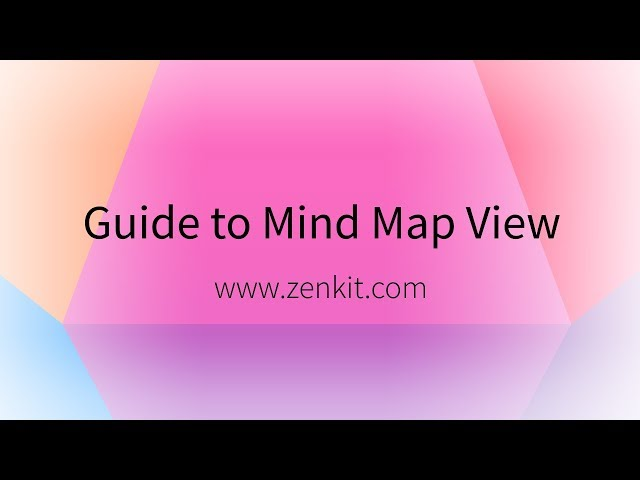 Zenkit: Guide to Mind Map View