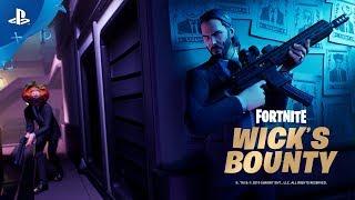 Fortnite X John Wick | Wick's Bounty Trailer | PS4