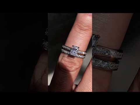 eng490-f1-em w/Matching Diamond Band
