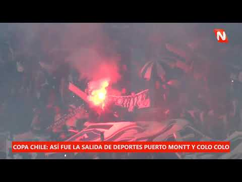 """""""Copa Chile 2019: Salida de Colo Colo en el Estadio Chinquihue Garra Blanca 09 junio 2019"""" Barra: Garra Blanca • Club: Colo-Colo"""