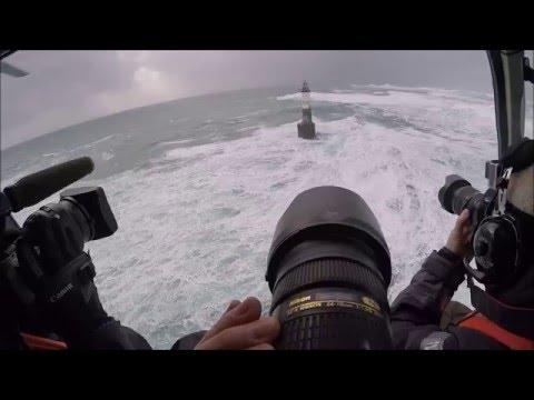 Tempete Ruzica au phare d'Armen : 8 fevr