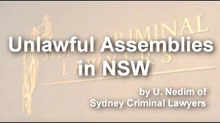 Unlawful Assemblies in NSW
