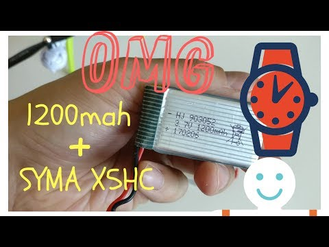 Get AMAZING long flight times - 1200 mah battery for Syma X5HC and X5HW