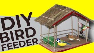How to make bird's house, A beautiful shelter for birds. Bird feeder DIY ✔