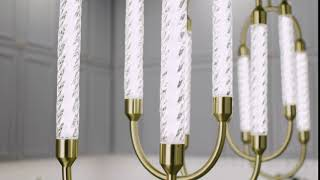 Delsey™ 3 Light Linear Pendant Cluster Champagne Gold