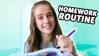 DO MY HOMEWORK WITH ME // Junior Year!