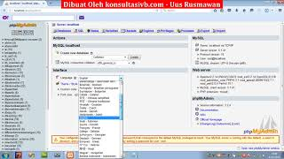 Tutorial VB.Net Mysql - bab 01 membuat database mysql dan tabel barang