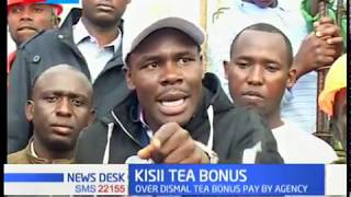 Kisii tea farmers petition the national and county governments to intervene on tea prices.