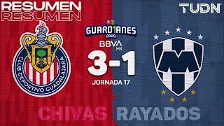 Resumen y goles | Chivas 3-1 Rayados | Guard1anes 2020 Liga BBVA MX - J17 | TUDN