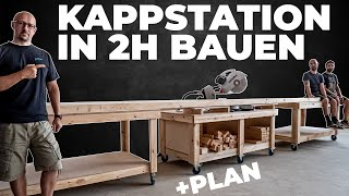 In nur 2h eine variable und einfache Kappstation bauen! in unserem Fall ist sie 13 Meter lang.