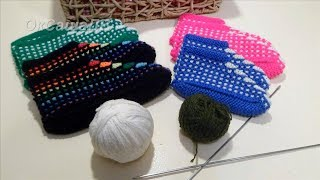 Тапочки (следочки) Ракушки, Веера. Вяжем спицами. Knitted Slippers Shells.