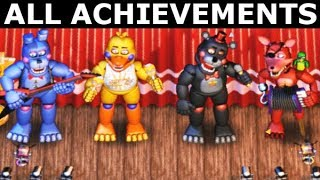 FNAF 6 - How To Get All The Band Achievements (Freddy Fazbear
