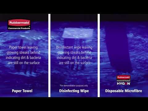 "Product video for [{""languageId"":6,""languageCode"":""en-AU"",""propertyValue"":""HYGEN™ Disposable Microfibre Cloth, 640 Pack, Green""}]"
