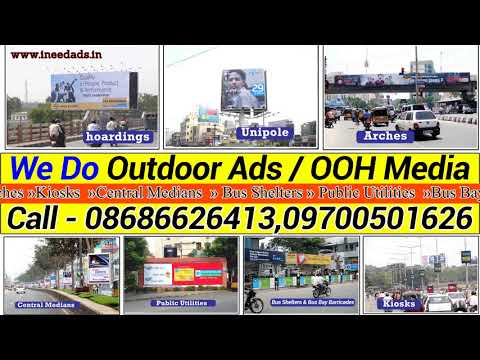 Hoardings, Unipole, Bus Shelters, Pole Kiosk