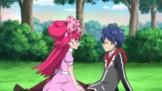 Романтитеский момент в аниме-поцелуй