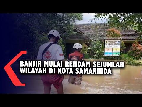 banjir mulai rendam sejumlah wilayah kota samarinda