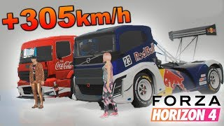 Pongo mi CAMIÓN a +300 Km/h!!!! ¿El camión más rápido? | Forza Horizon 4  | BraxXter