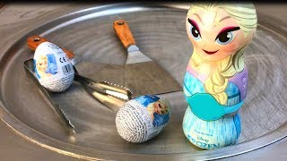 Ice Cream Rolls | Frozen Elsa - kinder Surprise Eggs Ice Cream / rolled ice cream chocolate roll egg