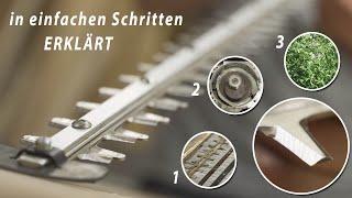 Heckenschere Messer schärfen - Schritt für Schritt einfach erklärt