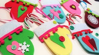 Felt Mitten Holiday Treat/Gift Card Holder Ornaments!