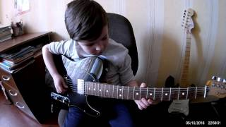 Seven Years Old Ivan Cover: Queen - Who Wants To Live Forever - Guitar Solo