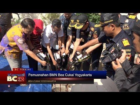 Pemusnahan BMN Bea Cukai Yogyakarta