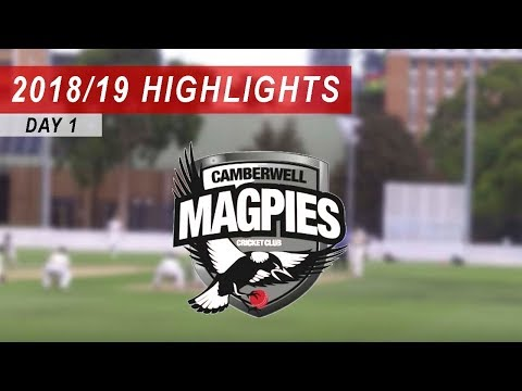 2018/19 Round 13 vs Camberwell Magpies 2nd XI: Day 1 Highlights