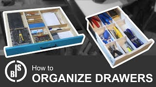 HOW TO ORGANIZE DRAWERS | DIY DRAWER DIVIDERS