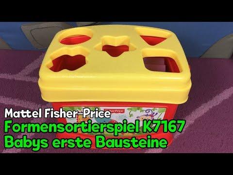 Formensortierspiel Mattel Fisher-Price K7167 – Babys erste Bausteine (Steckbox)