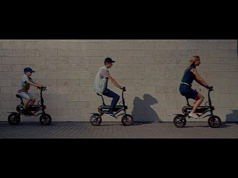 Elektrinis dviratis Sponge City 12'', juodas/oranžinis kaina ir informacija | Elektriniai paspirtukai | pigu.lt
