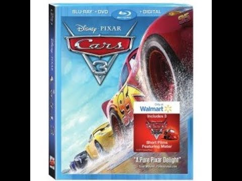 Opening To Cars 3 2017 Blu-Ray