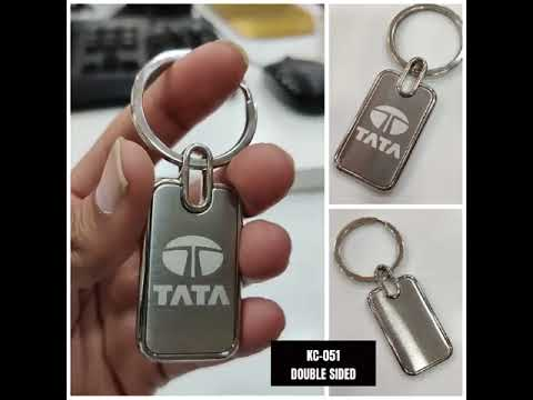 SGA KC-051 Double Side Silver Metal Key Ring Keychain