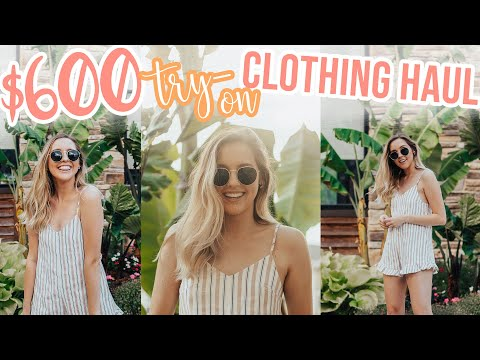 HUGE $600 Princess Polly TRY-ON Clothing Haul!