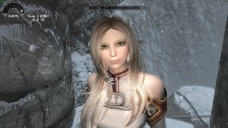【Skyrim】スカイリム 7 MOD ソードアート・オンライン アスナ? Custom Voice Follower Rosalie フォロワー「Rosalie(ロザリー)」 マグナスの杖 編
