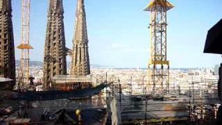 preview picture of video 'Da una torre della Sagrada Familia...(A tower of the Sagrada Familia)'