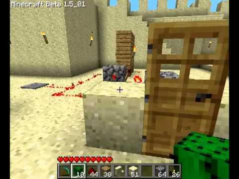 Различные механизмы в Minecraft - 6 серия