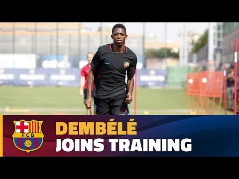 Dembélé completes first training session at FC Barcelona
